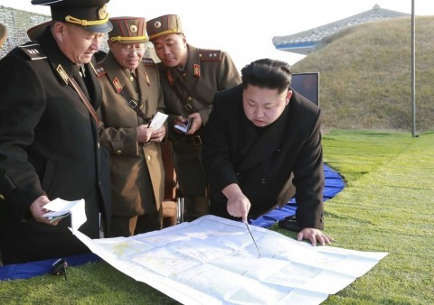 North Korea President issuing threats on the map