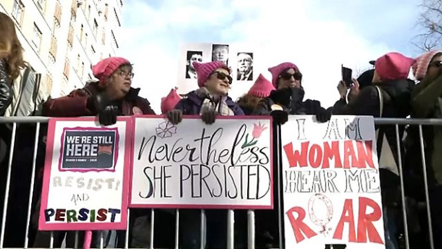 Women Rally In Las Vegas On March Anniversary