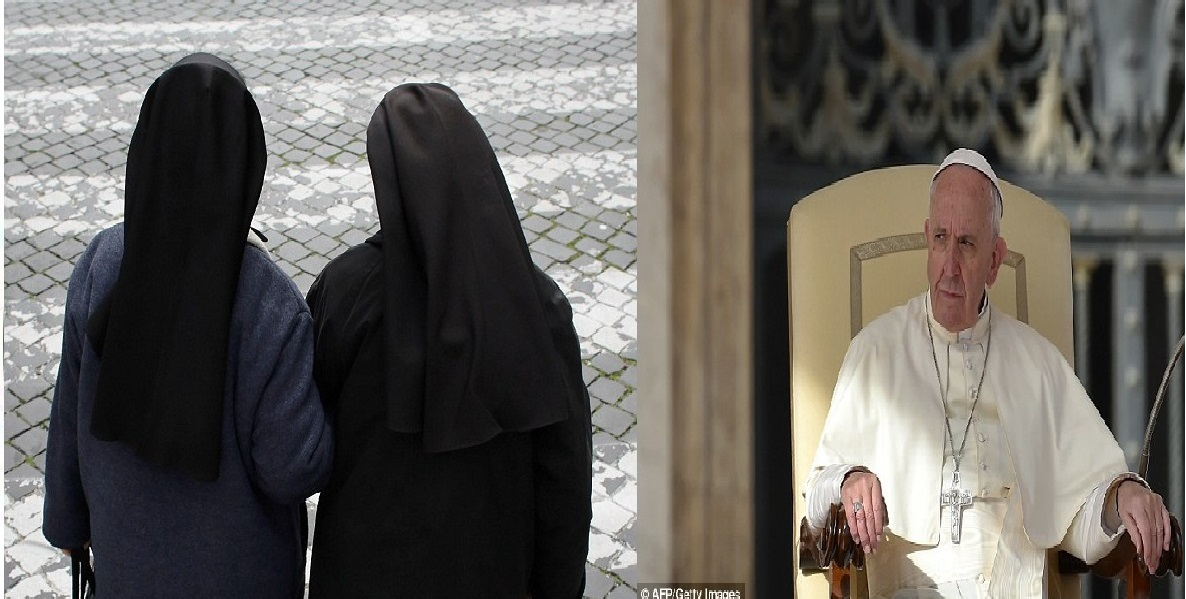 Pope Francis was 'saddened' when he heard two former nuns (stock) had married each other in a secret civil ceremony in Italy, a Vatican official has revealed
