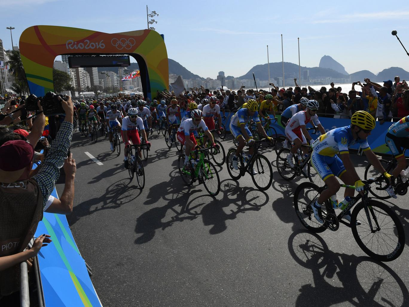 A controlled explosion by Brazil's anti-bomb squad took place near the finish line Getty