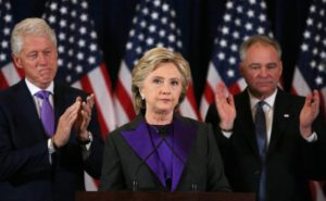 Hillary Clinton conceded to President-elect Donald Trump in New York, Nov. 9, 2016, calling for a peaceful transition of power. Photo: Reuters