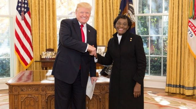 Liberian Envoy Presents Letters of Credence to U.S. President