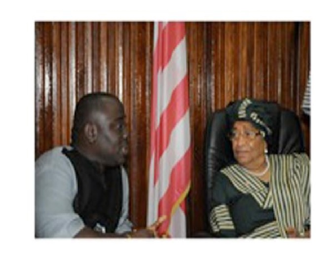 L/R: Indicted Speaker Tyler and President Sirleaf at one of their best days