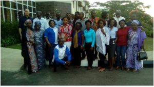 WaterAid West Africa Staff and Partners at the close of the Training on Menstrual Hygiene Management, held in Nigeria recently
