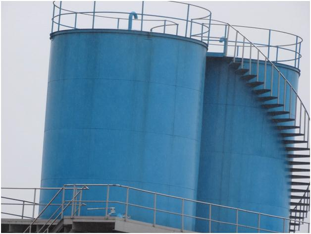 The new  palm oil storage tank