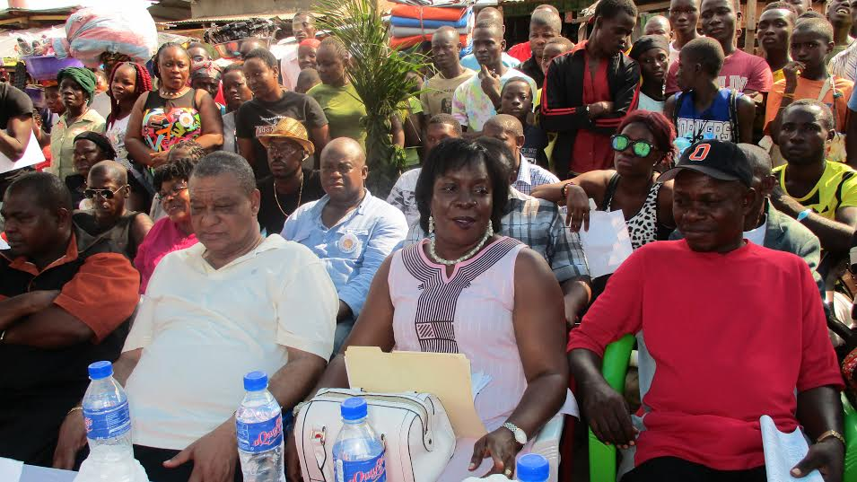 ALP Political Leader, Mr. Urey and his wife at the Saturday Program