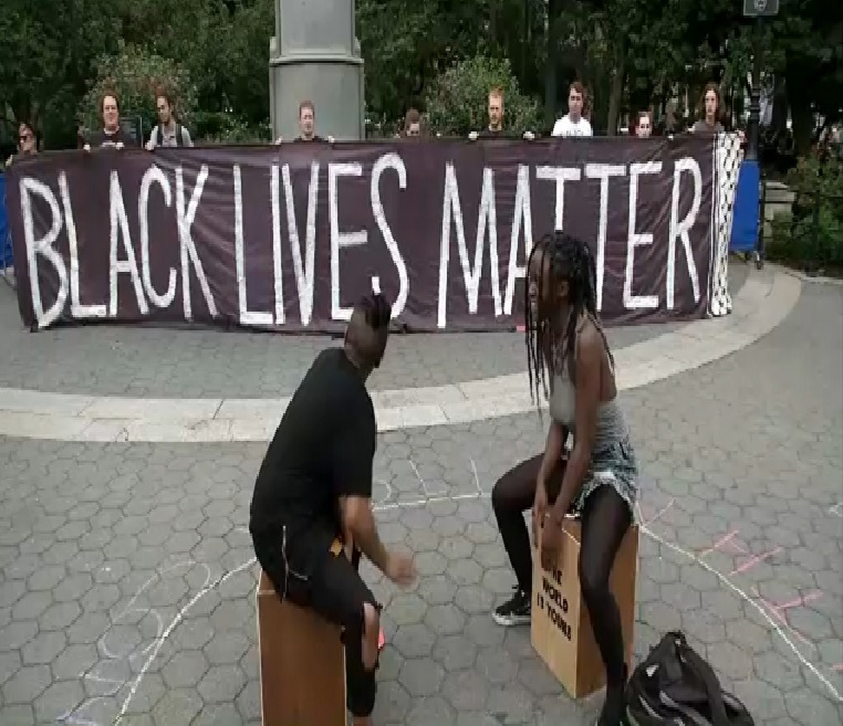 Protesters in Union Square rally against violence in Virginia -