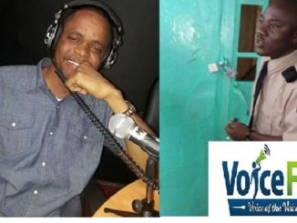 FLASH BACK: Henry Costa on air with Court officer locking The Offices of Voice FM