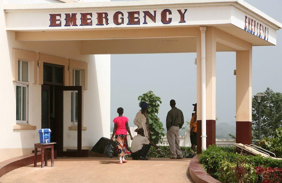 Entrance of the Hospital's emergency department