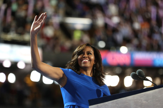 Michelle Obama speaks at the Democratic National Convention. Photo: Joe Raedle/2016 Getty Images