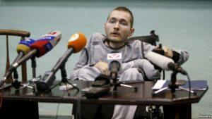 Flashback: Valery Spiridonov, who has volunteered to be the first person to undergo a head transplant, attends a news conference in Vladimir, Russia, June 25, 2015.