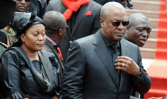 President Mahama and his wife Lordina Mourn