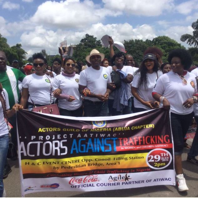 Nigerian Movie Actors on the day of the protest