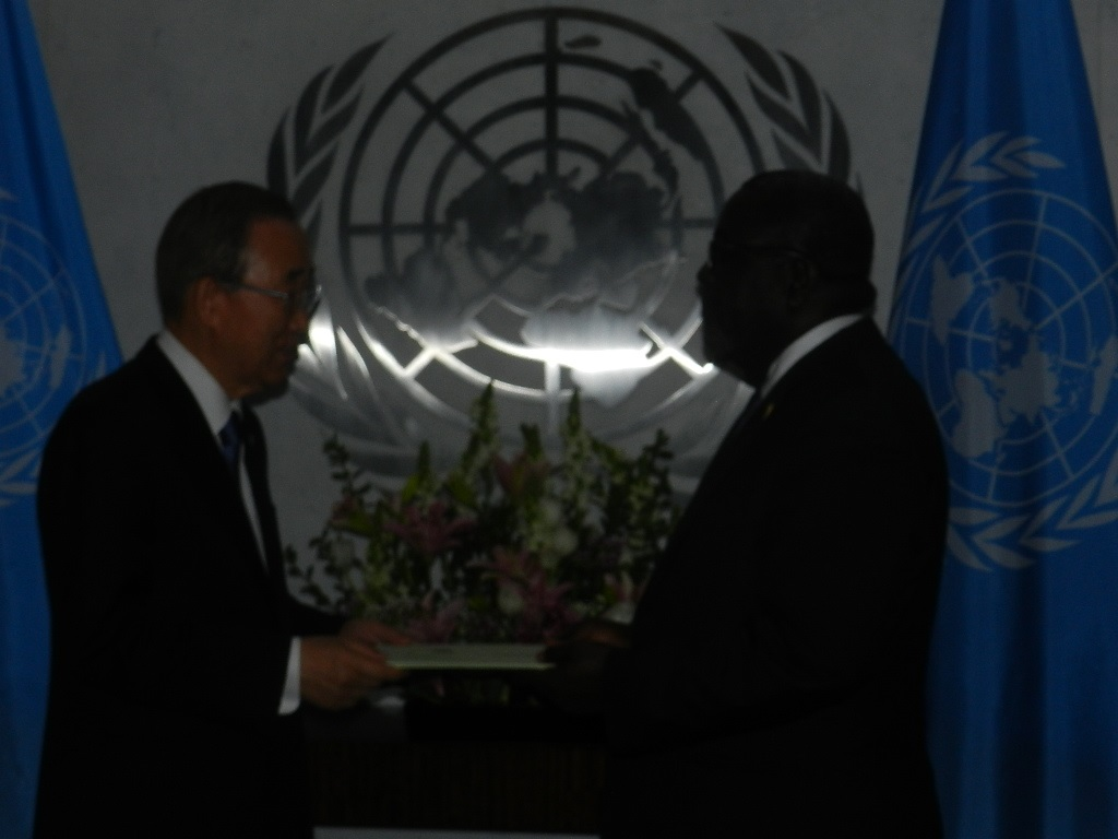 Ambassador Brown-presents Letters of Credence to UN Secretary General Ban Ki-moon on Thursday