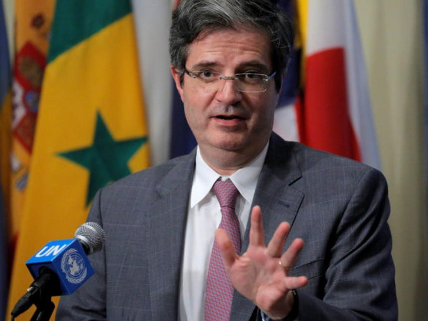 Permanent representative of France to the United Nations Francois Delattre addresses media after the United Nations Security Council voted to approve a resolution in Burundi at the United Nations in Manhattan, New York, US, July 29, 2016. /REUTERS