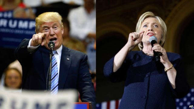 Both Republican Donald Trump and Democrat Hillary Clinton