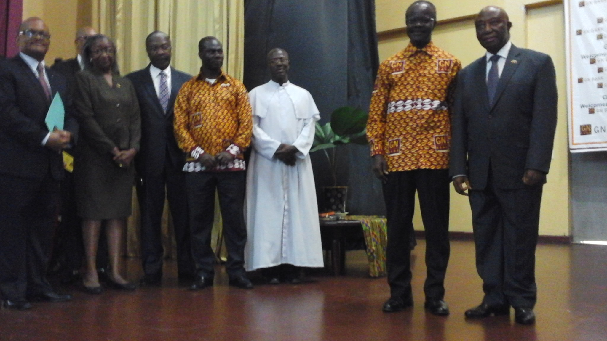 Line-Up Of Officials at the program including VP Boakai and Dr. Nduom