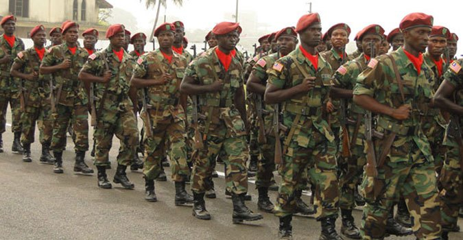 Members of the Liberian Army
