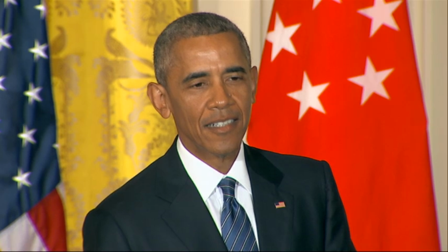 US President Barack Obama addressing a news conference Tuesday, August 2, 2016