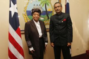 president-sirleaf-and-new-indian-ambassador-r-ravindra-pose-for-photo