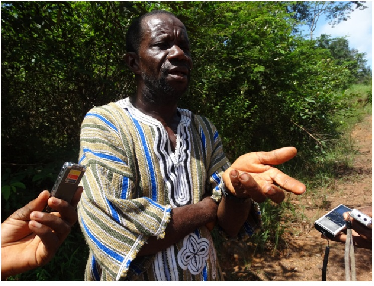 Chief Momo Zodua whose father established the town in an interview with reporters recently