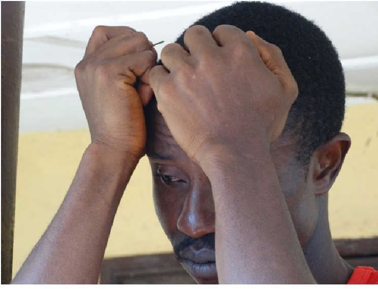 One of the unemployed youths of Zodua ponders over his future