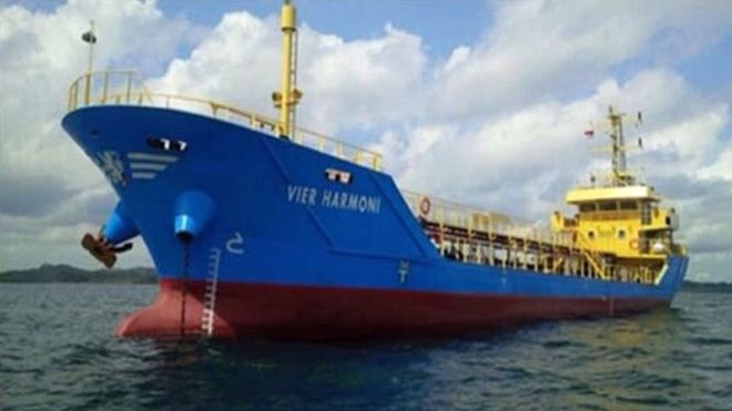 A maritime official from Indonesia tweeted a photo of the ship when it was believed to have been hijacked
