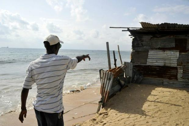 The West Point slum is being hit by rising seas -- a consequence of global warming and coastal erosion