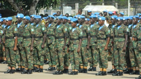 Troops Of UNMIL