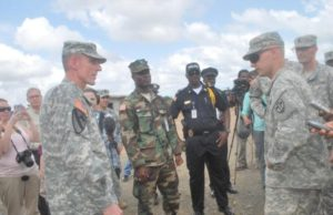 Col. Kromah with U.S. soldiers and a member of the Armed Forces of Liberia (AFL)