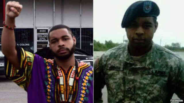 Micah Johnson, the suspect in the Dallas shooting, is seen in this undated Facebook post