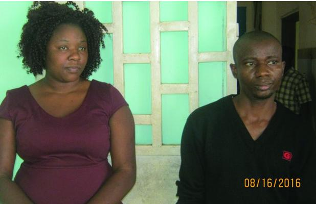 The female Zimbabwean who was arrested along with a Guinea Bissau national