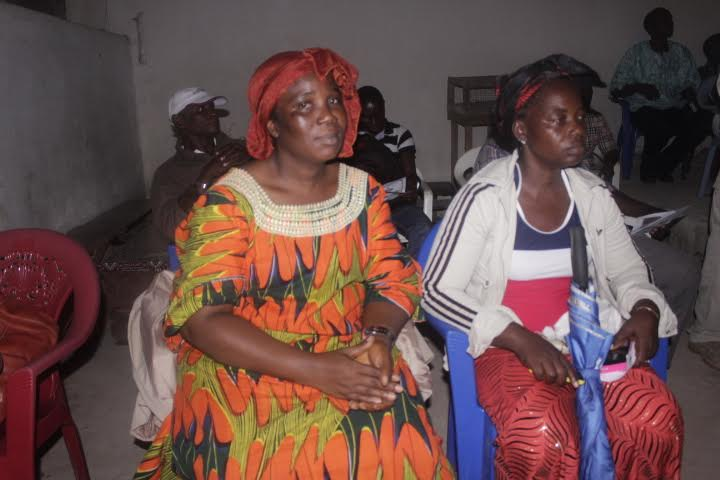 Two prominent women of the county who had gone to grace the occasion