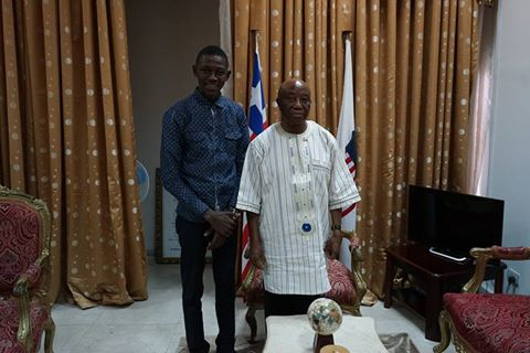 Young Ambassador Keita With Liberian Vice President At His Capitol Building Office