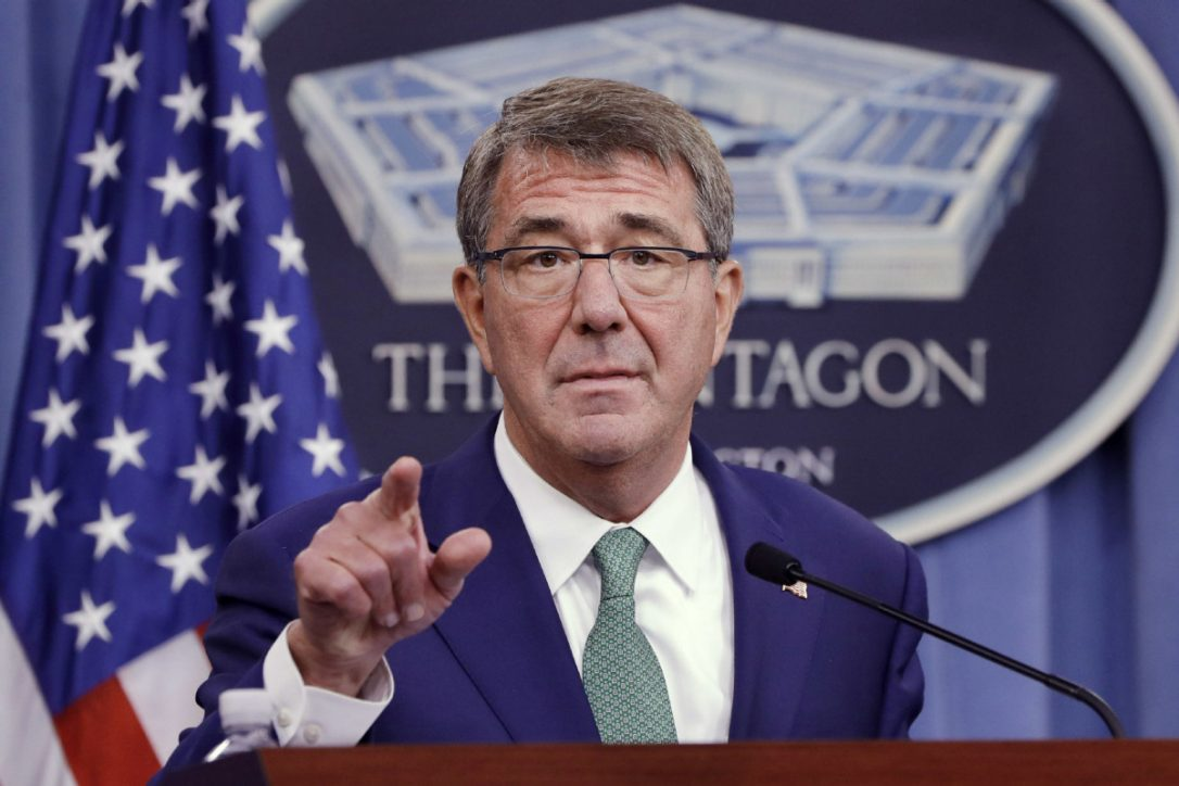 """U.S. Defence Secretary Ash Carter, seen here in a file photo, warns Russia over recent actions. """"We don't seek an enemy in Russia. But make no mistake — we will defend our allies, the principled international order, and the positive future it affords all of us.""""  (Jacquelyn Martin / AP)"""