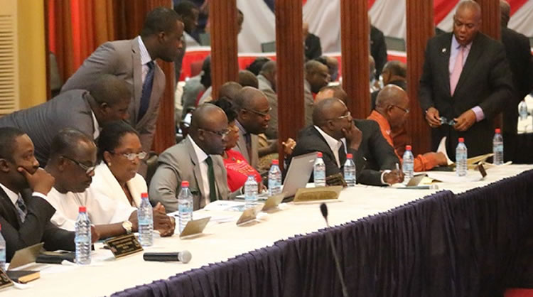 Flash Back: Liberian Cabinet Members in session