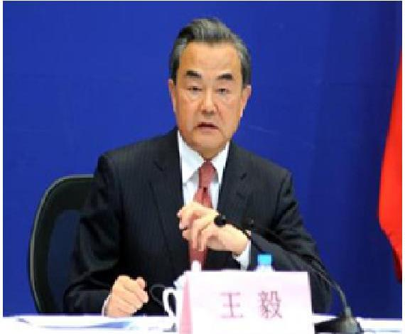 Foreign Minister Wang Yi addressing journalists on May 26, 2016 in Beijing