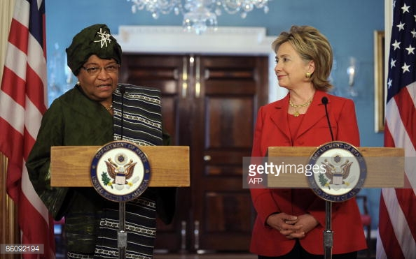 Liberian Leader, Ellen Johnson Sirleaf and U.S. Presidential Candidate, Hillary Clinton