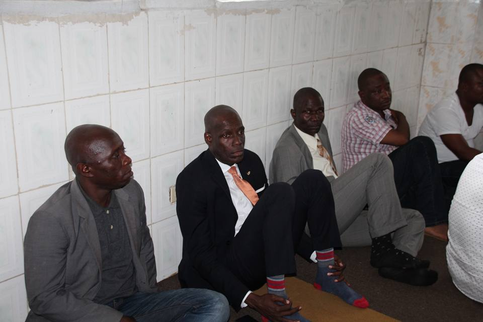Liberia's Information Minister, Lenn Eugene Nagbe was at the funeral