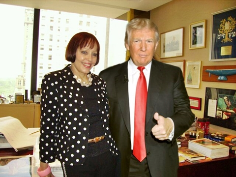 Donald Trump and speech writer, Meredith McIver