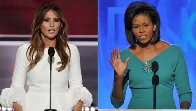 Mrs. Melania Trump And Mrs. Michelle Obama