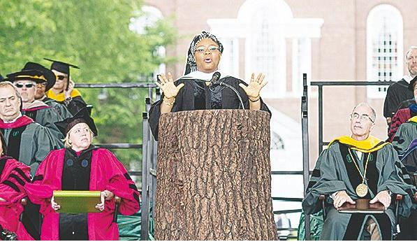 Leymah Gbowee Delivering Her Keynote Address To Darmouth Graduates