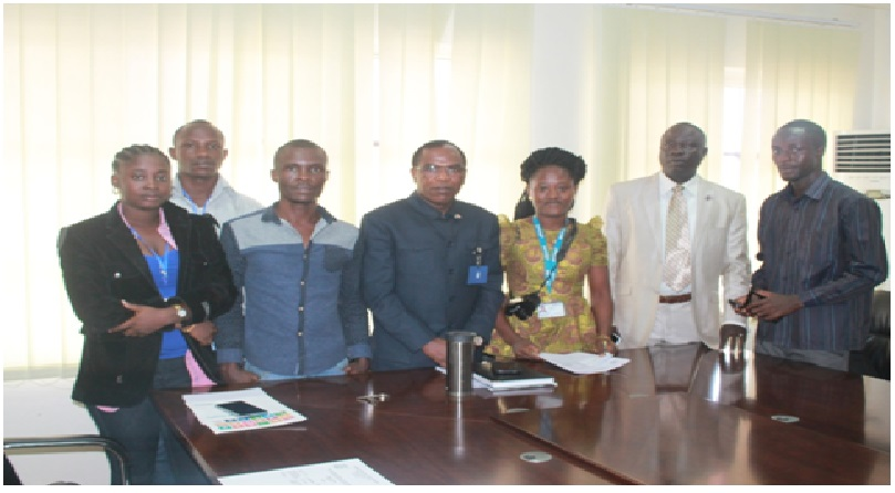 Deputy Health Minister, Dr. Francis Kateh (middle) along with WaterAid and CSO Partners