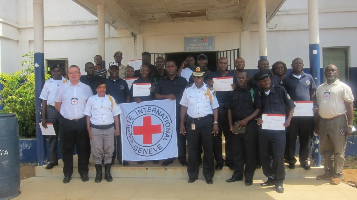 Law enforcement instructors end a four-day train-the-trainer seminar on international rules and standards for policing in Monrovia. CC BY-NC-ND / Varney Bawn / ICRC