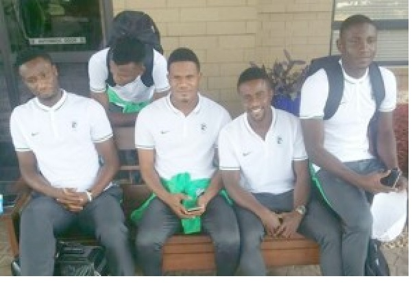 Mikel (far left) and the rest of the Nigeria Olympic team