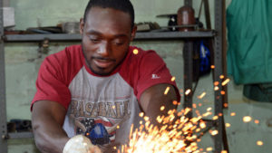 PICTURES: Sculptor Eugene Perry, resident artist at Mayfair