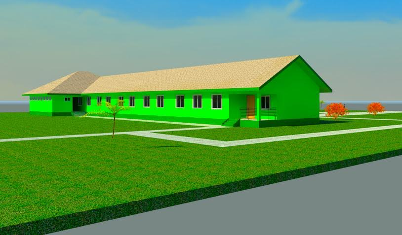 The expected School building under construction for the New Dimension of Hope (NDH)