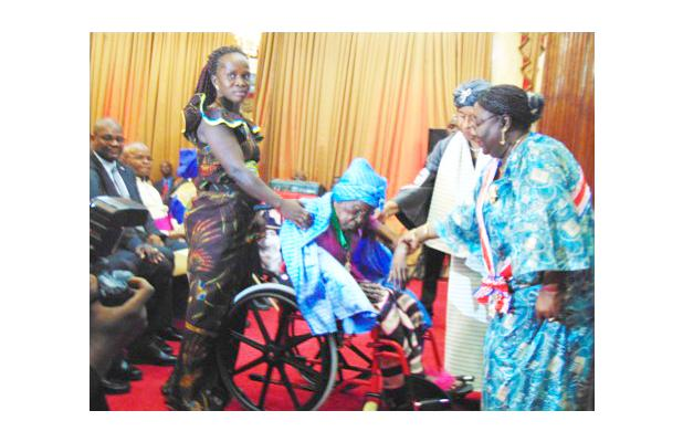 Madam Klayonoh Bleoplue been bestowed upon Liberia's highest distinction as the world's oldest surviving human being