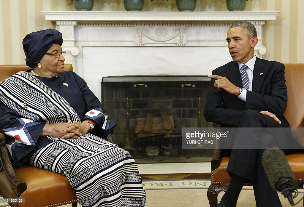 Liberian Leader and US President Obama