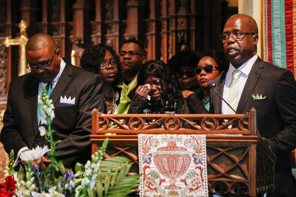 Family members and sympathizers at the home going of Liberia's first woman leader - Credit: Columbus Dispatch